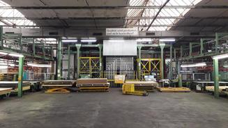 Becker and Hullen High Pressure Lamination Line